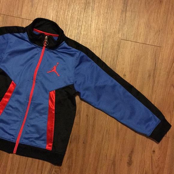 best sneakers e1d27 c4b9f Jordan Other - Jordan Boys Jacket 6 7 Blue Black Red Zipper Nike